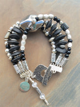 Load image into Gallery viewer, Ashanti Black and Silver Bracelet