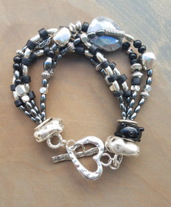Midnight Moonstone Bracelet