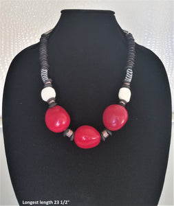 Lady in Red Necklace