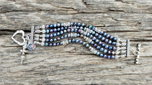Load image into Gallery viewer, Peacock Pearl Bracelet
