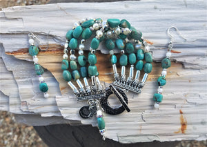 Turquoise and Pearls Bracelet