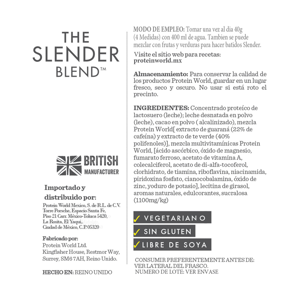 The Slender Blend: Chocolate - 600G