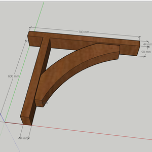 Hardwood Gallows Brackets 1
