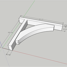 Load image into Gallery viewer, Softwood Gallows Brackets 2