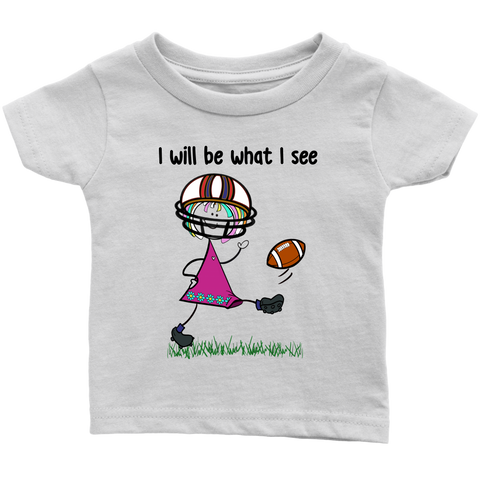Girl Football Kicking Infant Tee (3073)
