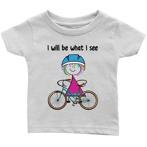 Girl Cycling Infant Tee (3035)
