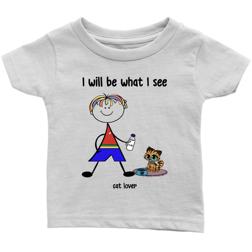 Boy Cat Lover Infant Tee (2033)