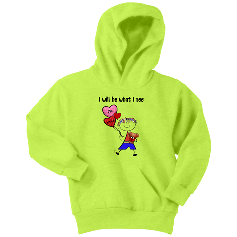 Boy Valentine's Day Youth Hoodie (8011)