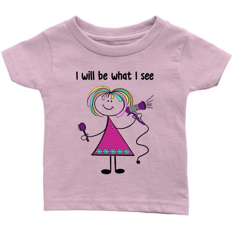 Girl Hairdresser Infant Tee (1016)
