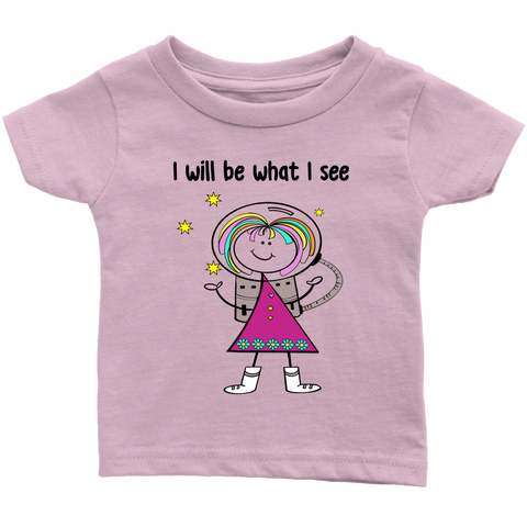 Girl Astronaut Infant Tee (1010)