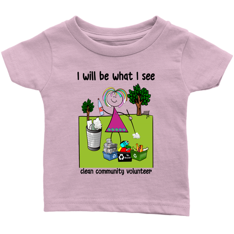 Girl Clean Community Volunteer Infant Tee (2028)
