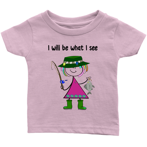 Girl Fishing Infant Tee (3030)