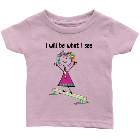 Girl Gymnastics Infant Tee (3016)