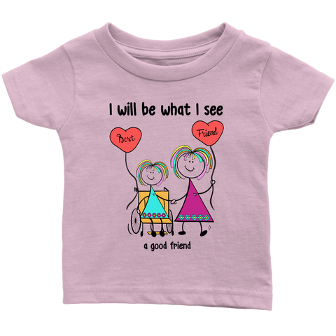 Girl Good Friend Wheelchair Infant Tee (2024)
