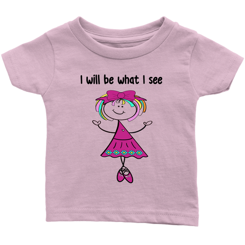 Girl Ballerina Infant Tee (3046)