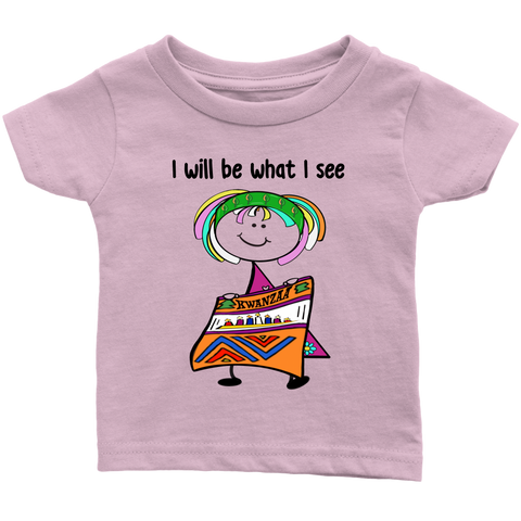 Girl Kwanzaa Infant Tee (8007)