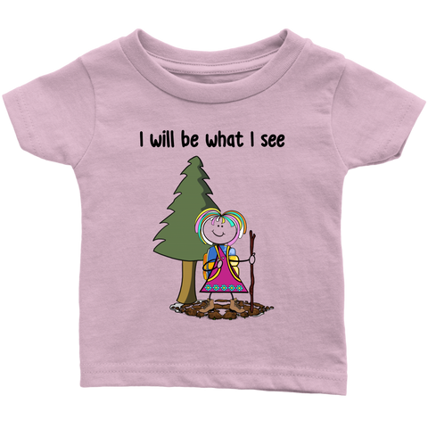 Girl Hiking Infant Tee (3076)