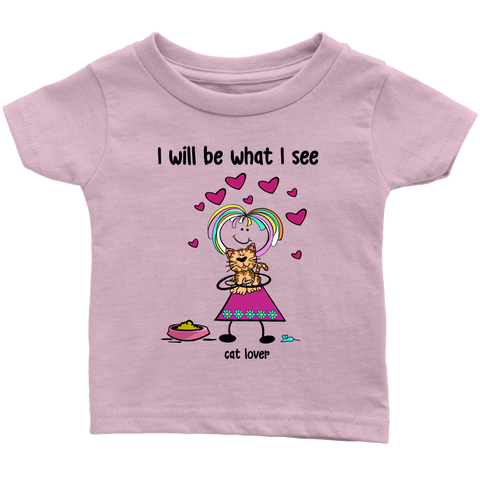 Girl Cat Lover Infant Tee (2032)