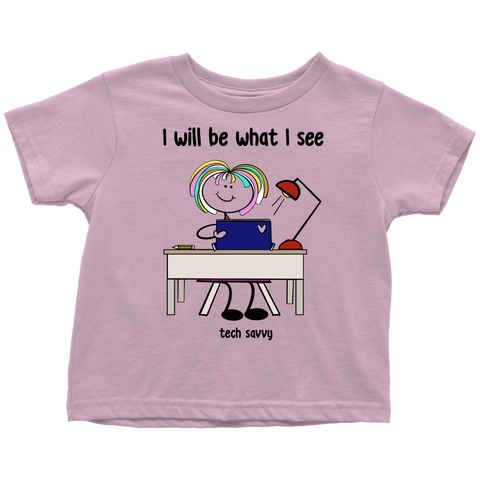 Girl Tech Savvy Toddler Tee (3074)