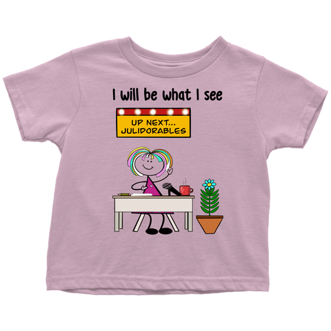 Girl Talk Show Host Toddler Tee (1046)