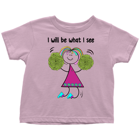 Girl Cheerleading Toddler Tee (3032)