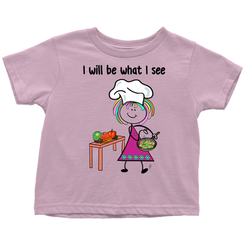 Girl Chef Toddler Tee (1035)