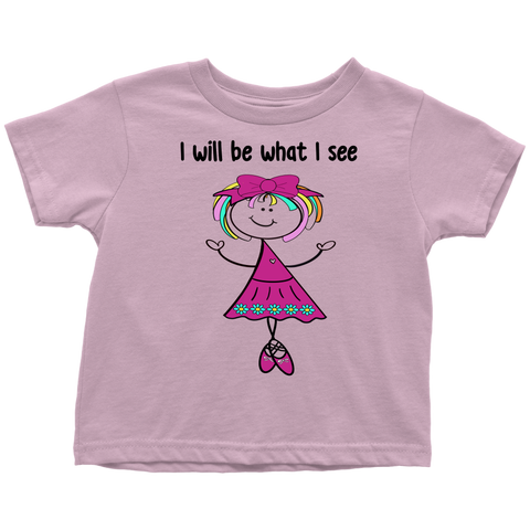 Girl Ballerina Toddler Tee (3046)