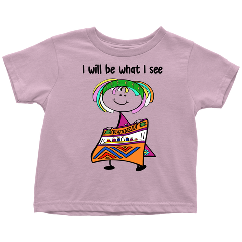Girl Kwanzaa Toddler Tee (8007)