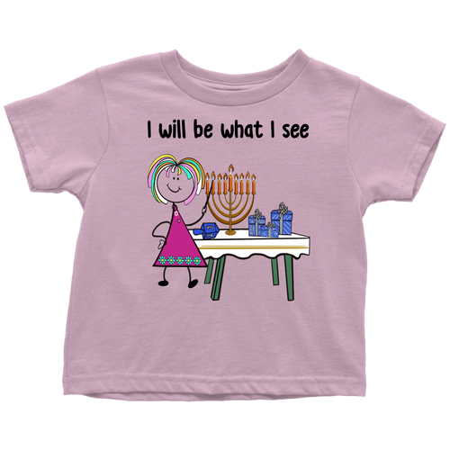 Girl Chanukah Toddler Tee (8005)