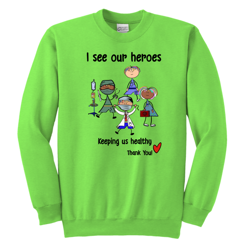 Medical Heroes Youth Sweat (8701)
