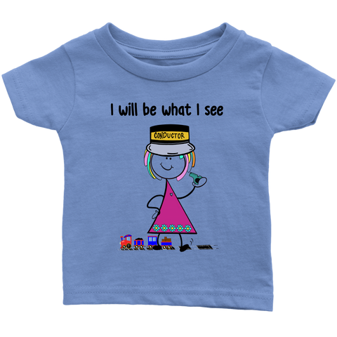 Girl Conductor Infant Tee (1031)