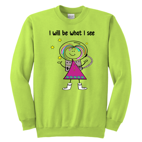 Girl Astronaut Youth Sweat (1010)