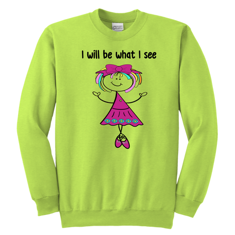 Girl Ballerina Youth Sweat (3046)