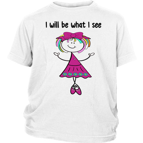 Girl Ballerina Youth Tee (3046)
