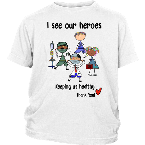 Medical Heroes Youth Shirt (8701)