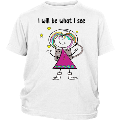Girl Astronaut Youth Tee (1010)