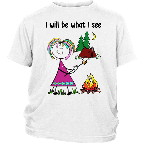 Girl Camping Youth Tee (3043)