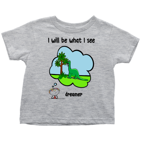 Boy Dreamer Dinosaurs Toddler Tee (3047)