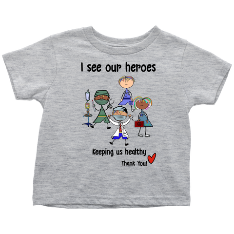 Medical Heroes Toddler Tee (8701)