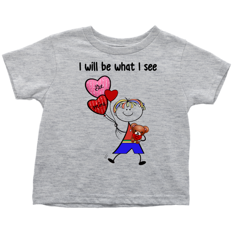 Boy Valentine's Day Toddler Tee (8011)