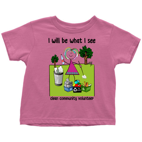 Girl Clean Community Volunteer Toddler Tee (2028)