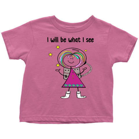 Girl Astronaut Toddler Tee (1010)
