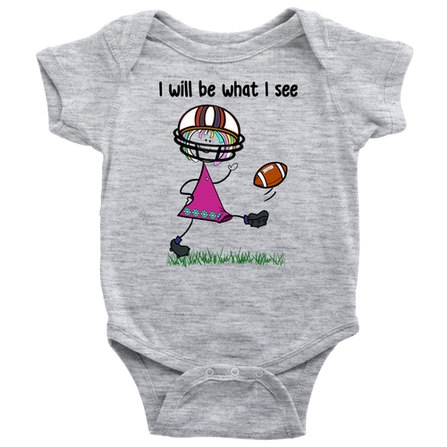 Girl Football Kicking Onesie (3073)
