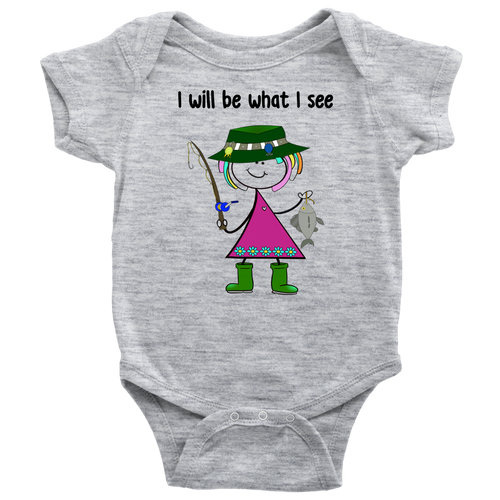Girl Fishing Onesie (3030)