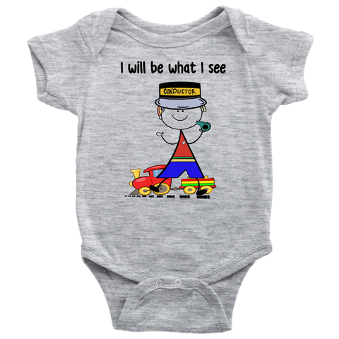 Boy Conductor Onesie (1043)