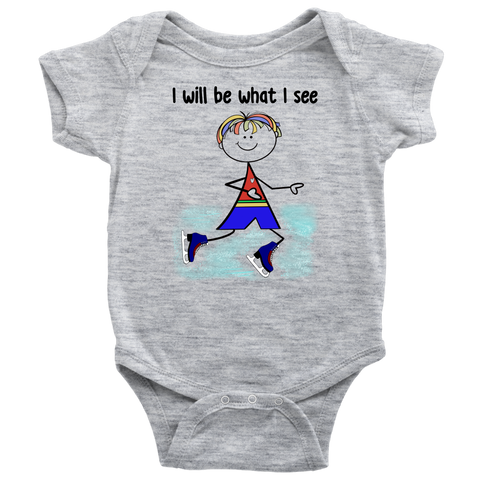 Boy Ice Skating Onesie (3059)