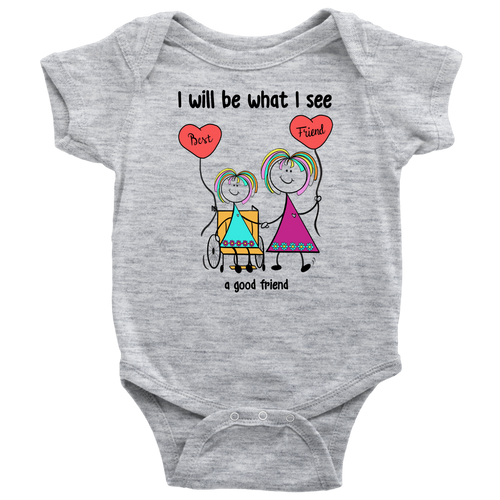 Girl Good Friend Wheelchair Onesie (2024)