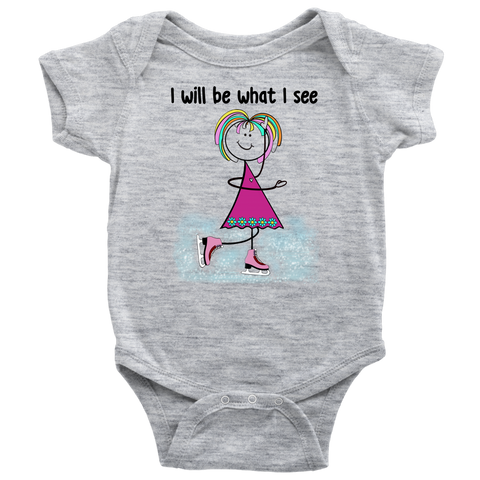 Girl Ice Skating Onesie (3060)