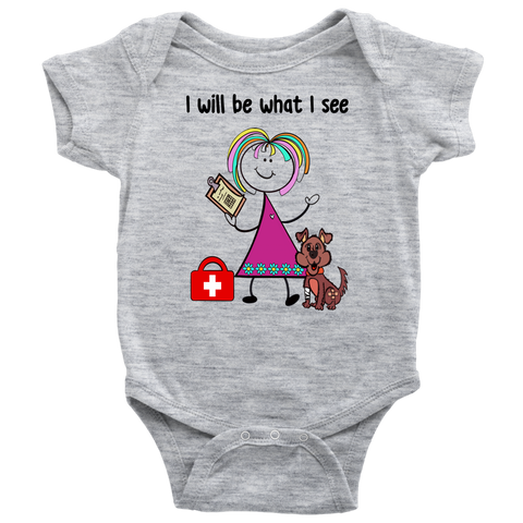 Girl Veterinarian Onesie (1014)