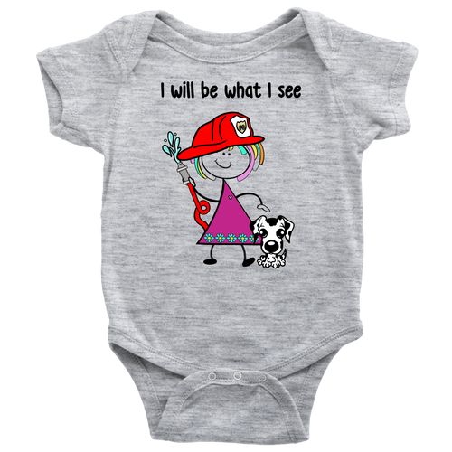 Girl Firefighter Onesie (1006)